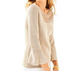 Lilly Pulitzer metallic gold sweater